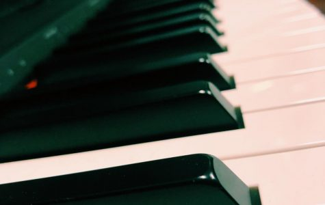 The piano in the Choir Council Room, during the VIP blocks many students can be found jammed in there pouring over music and replaying notes. January 16th, 2020.  Photo Courtesy of Olivia Post.